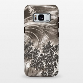 Galaxy S8+  Grey Beige Feathe Fractal by Andrea Haase