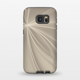 Galaxy S7  Shining Rays In Soft Gold by Andrea Haase (fractal, glamour, shiny, shimmering, precious, lines, ray, futuristic, modern, shine, decorative, extravagant, elegant, exquisite, exclusive, luxury, rich, pastel,gold, soft gold,warm)