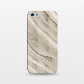 iPhone 5/5E/5s  Greige Faux Marble Elegance by Andrea Haase