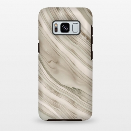 Galaxy S8+  Greige Faux Marble Elegance by Andrea Haase