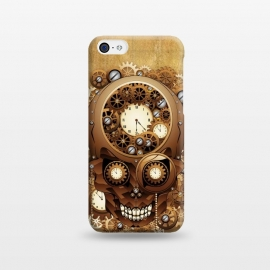 iPhone 5C  Skull Steampunk Vintage Style by BluedarkArt