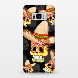 Galaxy S8+  Mexico Sugar Skull with Sombrero by BluedarkArt