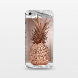 iPhone 5/5E/5s  Copper Pineapple on Gray Marble  by Utart