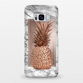 Galaxy S8+  Copper Pineapple on Gray Marble  by Utart
