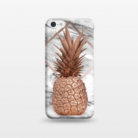 iPhone 5C  Copper Pineapple Abstract Shape and Marble  by Utart