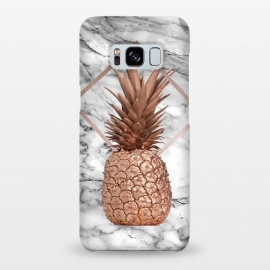Galaxy S8+  Copper Pineapple Abstract Shape and Marble  by Utart