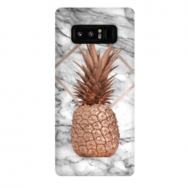 Galaxy Note 8  Copper Pineapple Abstract Shape and Marble  by Utart