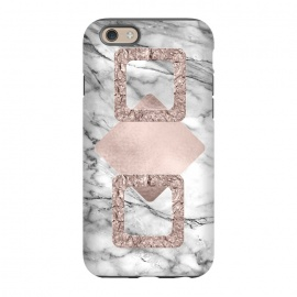 iPhone 6/6s  Rose Gold Geometric Shapes on Marble by Utart