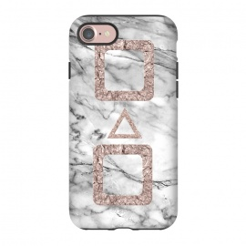 iPhone 8/7  Marble with Rose Gold Shapes by Utart