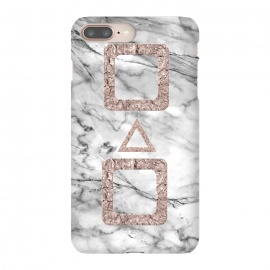 Marble with Rose Gold Shapes by Utart
