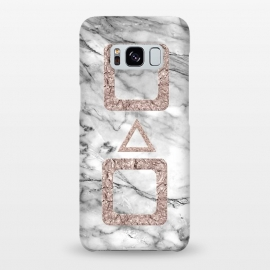 Galaxy S8+  Marble with Rose Gold Shapes by Utart