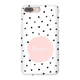 iPhone 8/7 plus  Bonjour - on polka dots  by