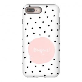 iPhone 8/7 plus  Bonjour - on polka dots  by Utart