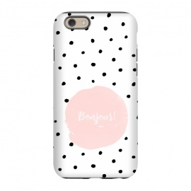 iPhone 6/6s  Bonjour - on polka dots  by Utart