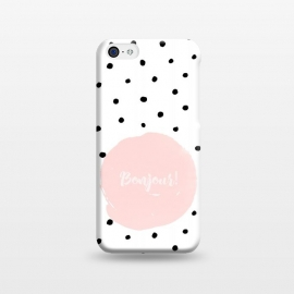 iPhone 5C  Bonjour - on polka dots  by Utart