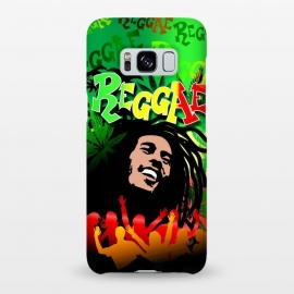 Galaxy S8+  Reggae RastaMan Music Colors Fun and Marijuana by BluedarkArt