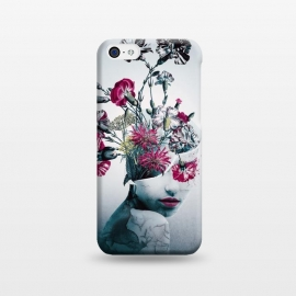 iPhone 5C  The spirit of flowers by Riza Peker (woman,collage,floral,flowers,art,red,blue,colors,fantasy)