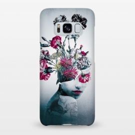 Galaxy S8+  The spirit of flowers by Riza Peker (woman,collage,floral,flowers,art,red,blue,colors,fantasy)