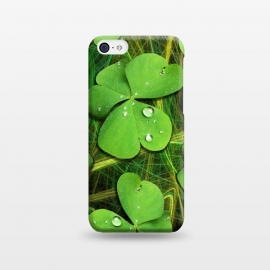 iPhone 5C  Shamrocks St Patrick with Dew Drops by BluedarkArt