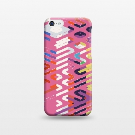 iPhone 5C  Random Complication by Uma Prabhakar Gokhale (graphic design, pattern, abstract, sim, simulated, random, modern, lines, elevation, architectural, colorful, pink, black, yellow, orange, blue, exotic, weave)