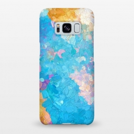 Galaxy S8+  Laura by Uma Prabhakar Gokhale (abstract, blue, purple, pink, gold, yellow, happy, summer, sunny, exotic)