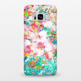 Galaxy S8+  Painted Joy by Uma Prabhakar Gokhale (abstract, random, floral, pink, yellow, green, blue, bright, impressionism, brush strokes)