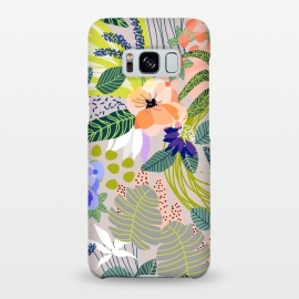 Galaxy S8+  Wander by Uma Prabhakar Gokhale (graphic, pattern, abstract, nature, floral, blossom, bloom, botanical, forest, garden, white, blush, green, blue, multicolor, bold)