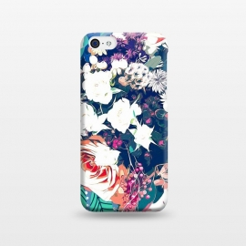 iPhone 5C  Bouquet by Uma Prabhakar Gokhale (graphic, abstract, floral, nature, teal, blue, green, pink, red, white, intricate, detailed, exotic, botanical, flowers, blossom, bloom)
