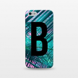 iPhone 5/5E/5s  Letter B by Laura Grant (Letter B,B,Palm,Summer,Typography,palm tree)