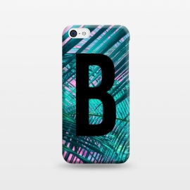 iPhone 5C  Letter B by Laura Grant (Letter B,B,Palm,Summer,Typography,palm tree)