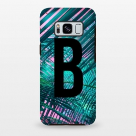 Galaxy S8+  Letter B by Laura Grant (Letter B,B,Palm,Summer,Typography,palm tree)