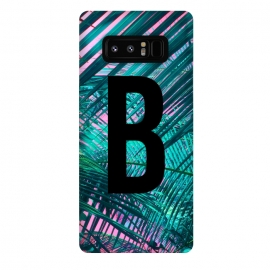 Galaxy Note 8  Letter B by Laura Grant (Letter B,B,Palm,Summer,Typography,palm tree)