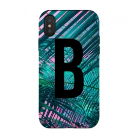 iPhone Xs / X  Letter B by  (Letter B,B,Palm,Summer,Typography,palm tree)