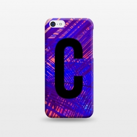 iPhone 5C  Letter C by Laura Grant (Letter C,C,Palm,Palm tree,Typography,Initial)
