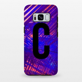 Galaxy S8+  Letter C by Laura Grant (Letter C,C,Palm,Palm tree,Typography,Initial)