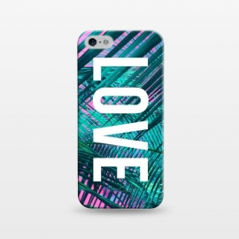 iPhone 5/5E/5s  Love by Laura Grant (love,summer,palm,palm tree,beach,typography)