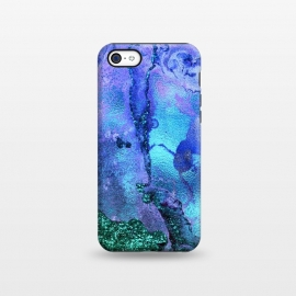 iPhone 5C  Blue and Green Glitter Marble by Utart