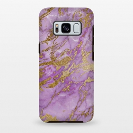 Galaxy S8+  Purple and Gold Marble by Utart