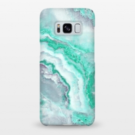 Galaxy S8+  Mint Green Veined Agate by Utart