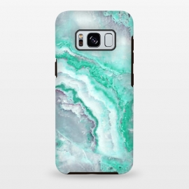 Galaxy S8 plus  Mint Green Veined Agate by