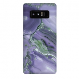 Galaxy Note 8  Purple Malachite Agate by Utart