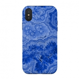 iPhone Xs / X  Ocean Blue Agate by Utart (Glitter, Stylish, Ombre, Girly, Marble, Marbled, Nature, Texture,  Geode ,Terrazzo,  Metallic, Scandi, Bohemian, Boho, Scandinavian, stone, crystal, quartz, gemstone, gem, granite,  shimmer, shimmery, shiny ,metallic,  trendy, girly, simply, simple, glitter, chrystal ,ink, malachite, agate, indigo,b)