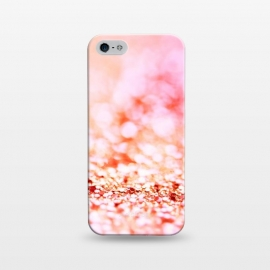 iPhone 5/5E/5s  Sunny pink faux glitter by