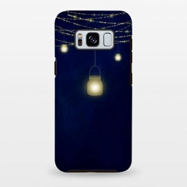 Galaxy S8 plus  Sparkling Light Jars at night by