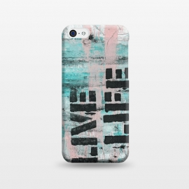 iPhone 5C  Live Life Pastel Grafitti by Andrea Haase
