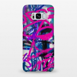 Galaxy S8+  Grafitti Writing Pink Blue by Andrea Haase