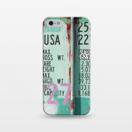 iPhone 5/5E/5s  Turquoise Grafitti Container by Andrea Haase