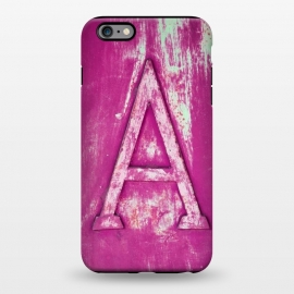 iPhone 6/6s plus  Grunge Style Pink Letter A by Andrea Haase