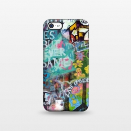 iPhone 5C  Graffiti Text And Peace Sign by Andrea Haase