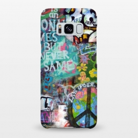 Galaxy S8+  Graffiti Text And Peace Sign by Andrea Haase